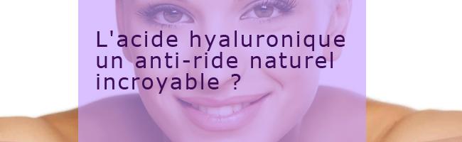 efficacité acide hyaluronique en gélule